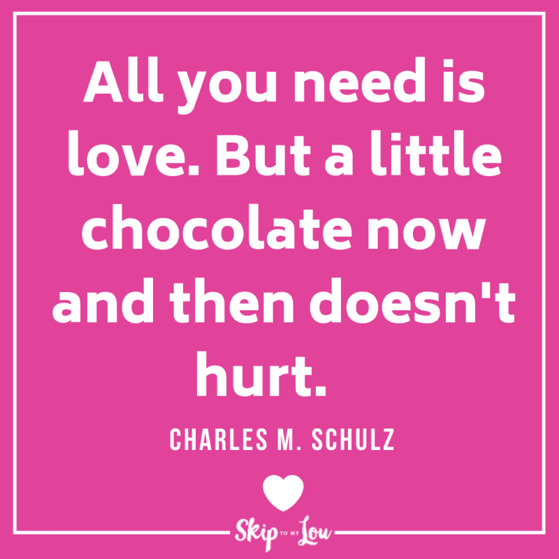 Charles M. Schulz love and chocolate quote