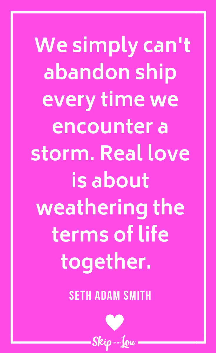 Seth Adam Smith on weathering life storm quote
