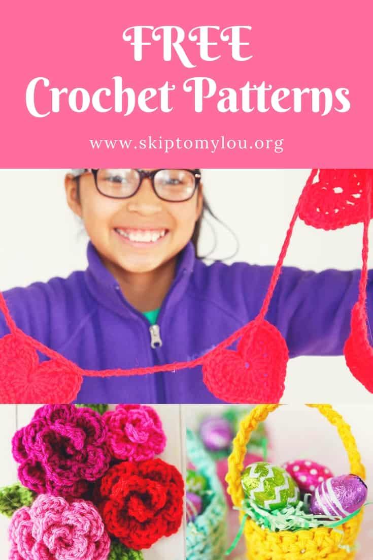 Free crochet patterns Pinterest Graphic