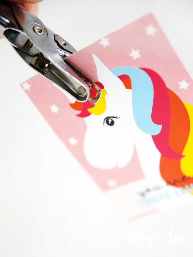 hole punch unicorn valentine