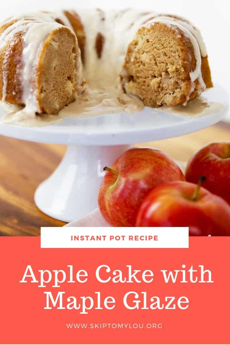 instant pot apple cake Pinterest Graphic