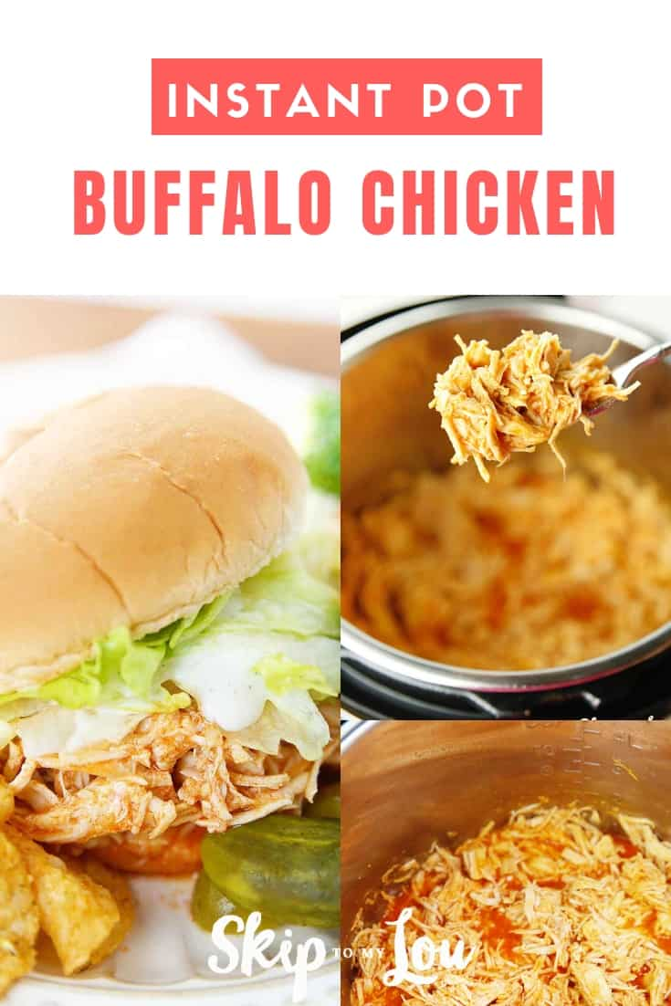 It doesn't get any easier than Instant Pot Buffalo Chicken! Only two ingredients and you can make juicy chicken for sandwiches, wraps, and salads. #InstantPot #recipes