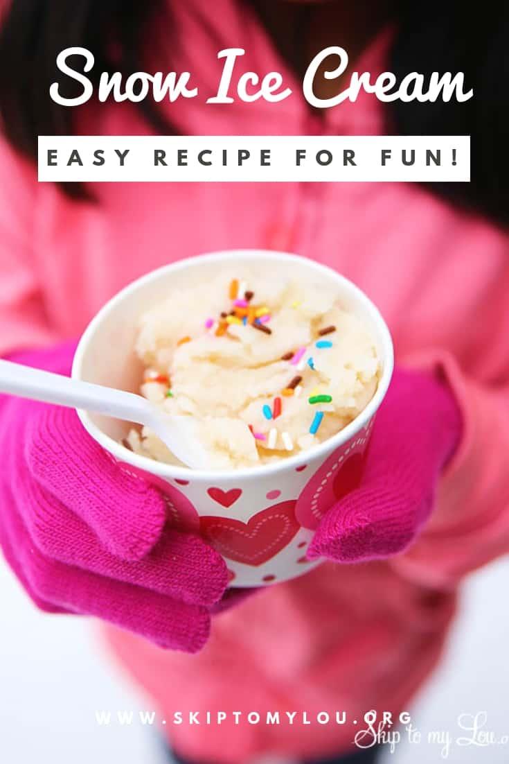 Delicious and EASY Snow Ice Cream