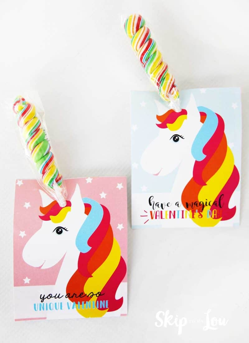 unicorn valentine with candy horns