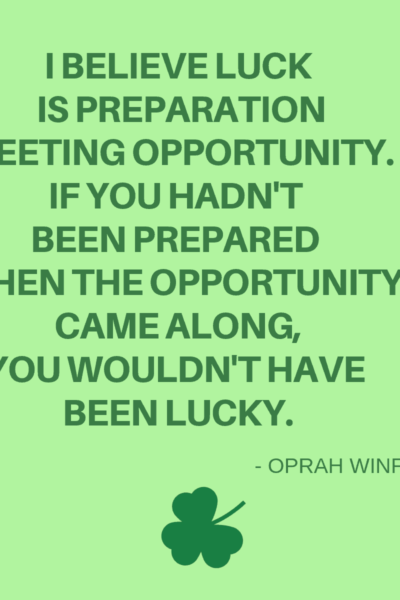 Oprah Winfrey quote about preparation
