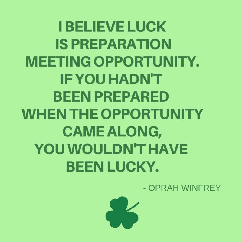 Oprah Winfrey quote about preparation