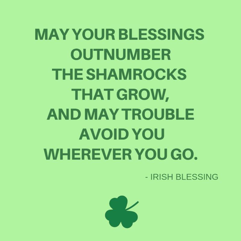 Irish Blessing about shamrocks