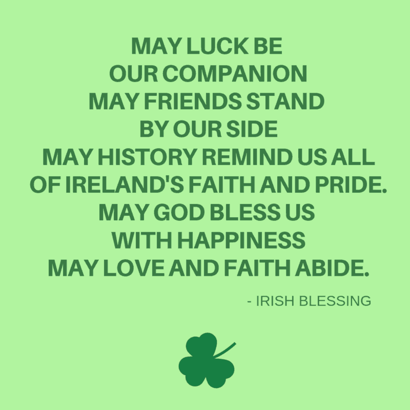 Irish blessing about luck