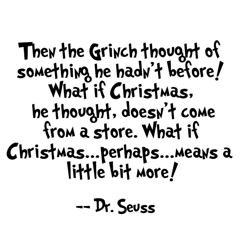 Christmas Grinch quote