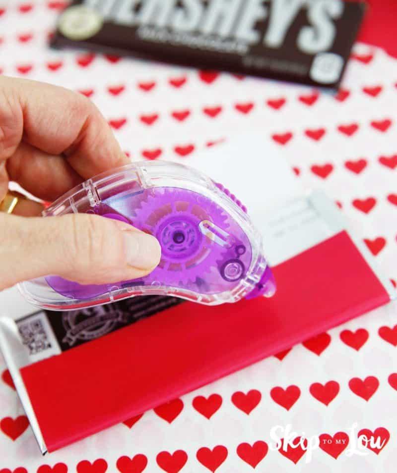 tape Valentine wrapper