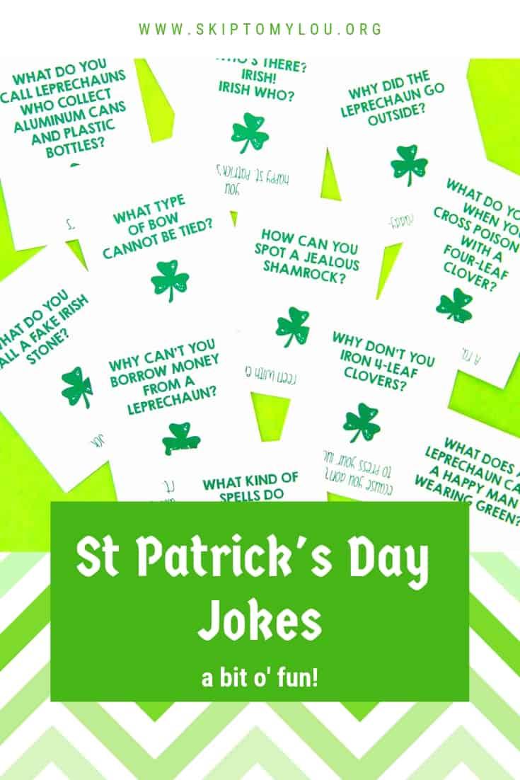St Patricks Day Jokes Pinterest Graphic