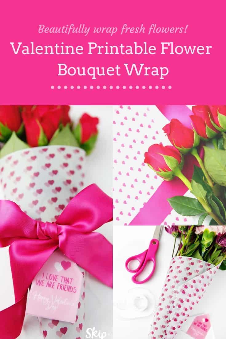 Valentine Flower Wrap Pinterest Graphic