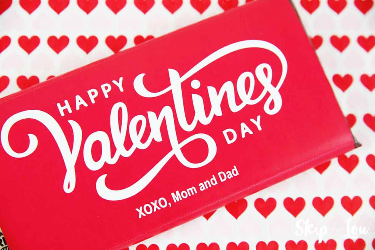 Personalized Valentine Candy Bar Wrapper | Skip To My Lou