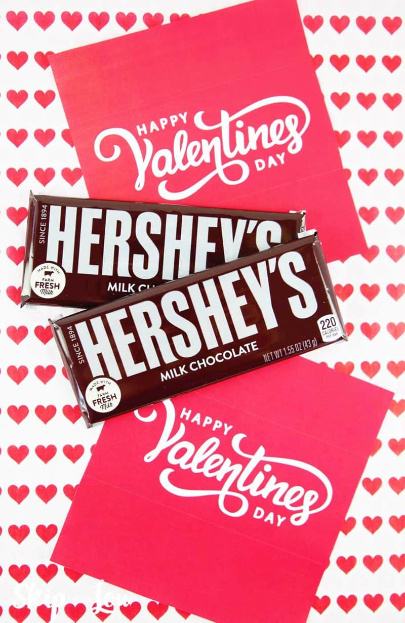 free printable candy bar wrapper hershey chocolate bars