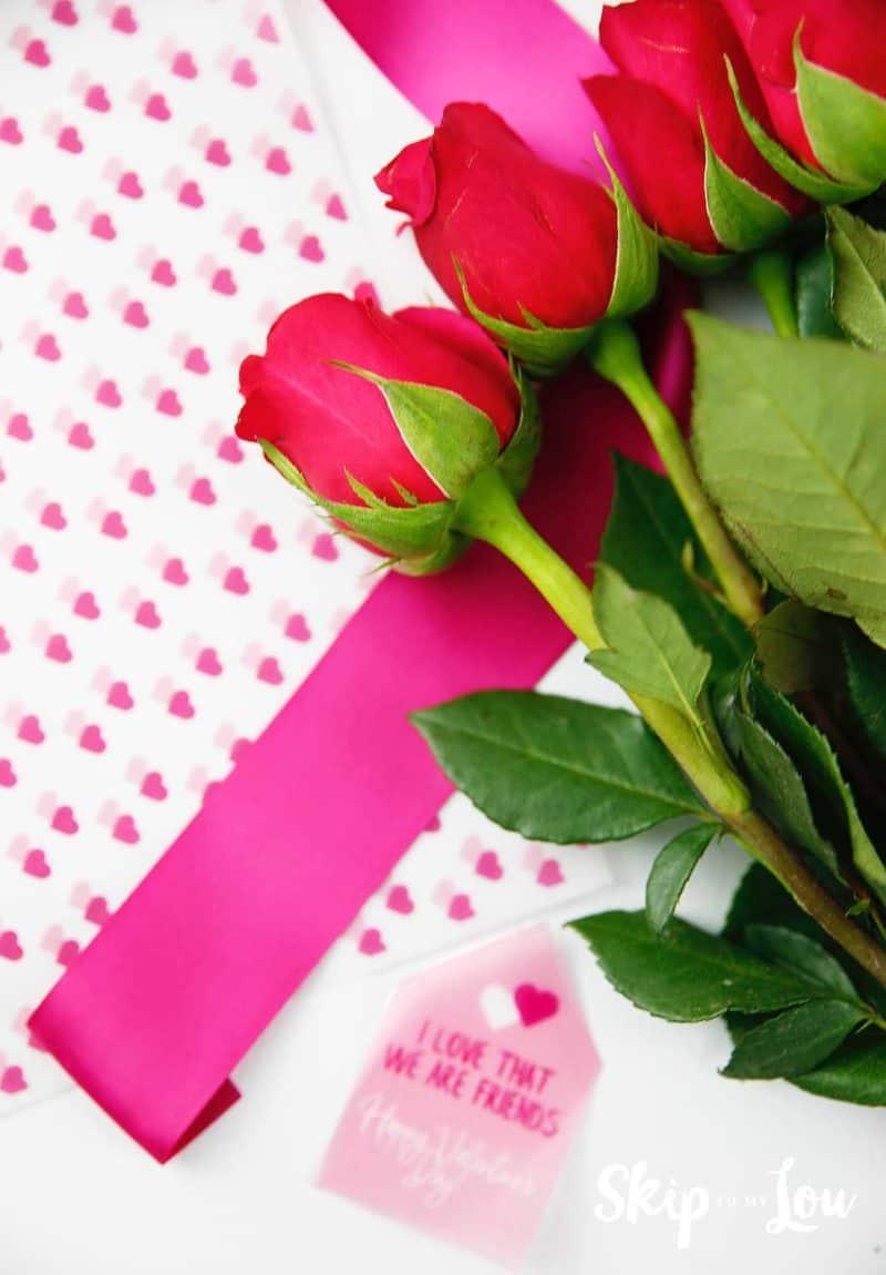 printable flower wrap flowers ribbon