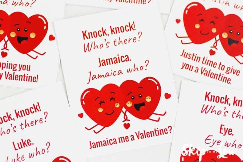 valentine knock knock joke Jamaica me a Valentine
