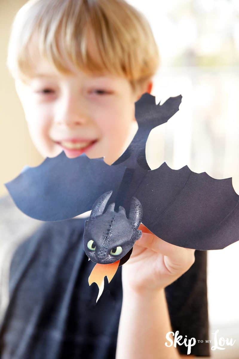 printable toothless dragon craft