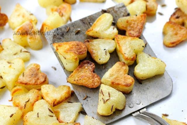 roasted heart potatoes