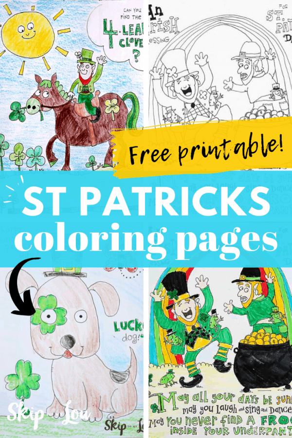 st patricks coloring pages PIN