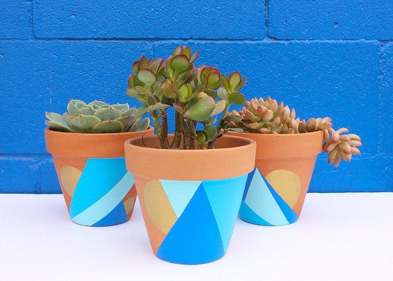 geometric pots