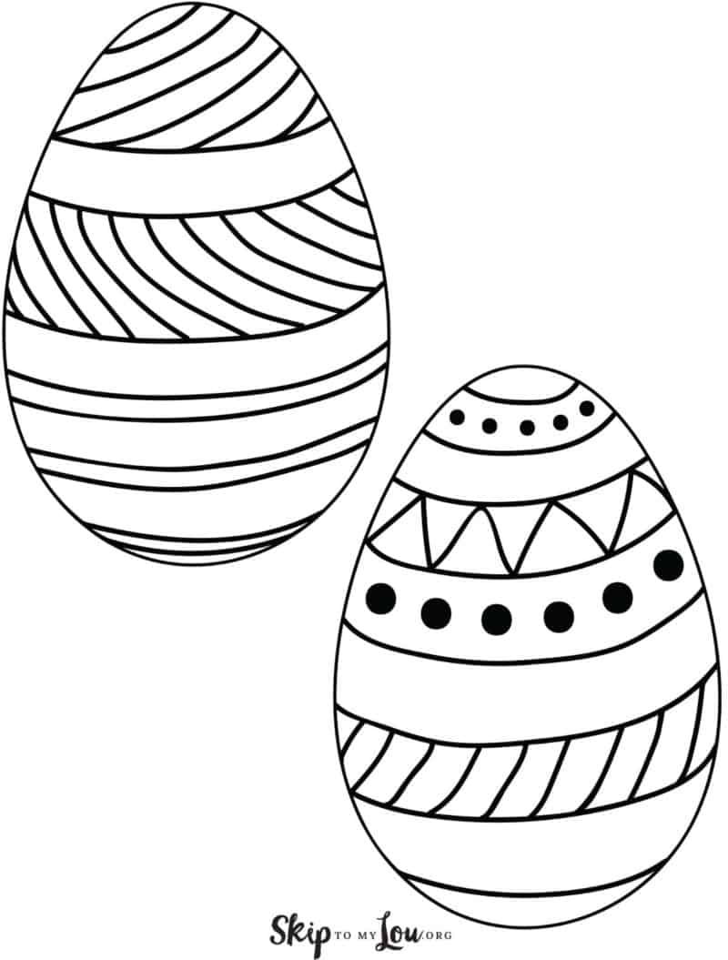 printable easter egg 2 on page