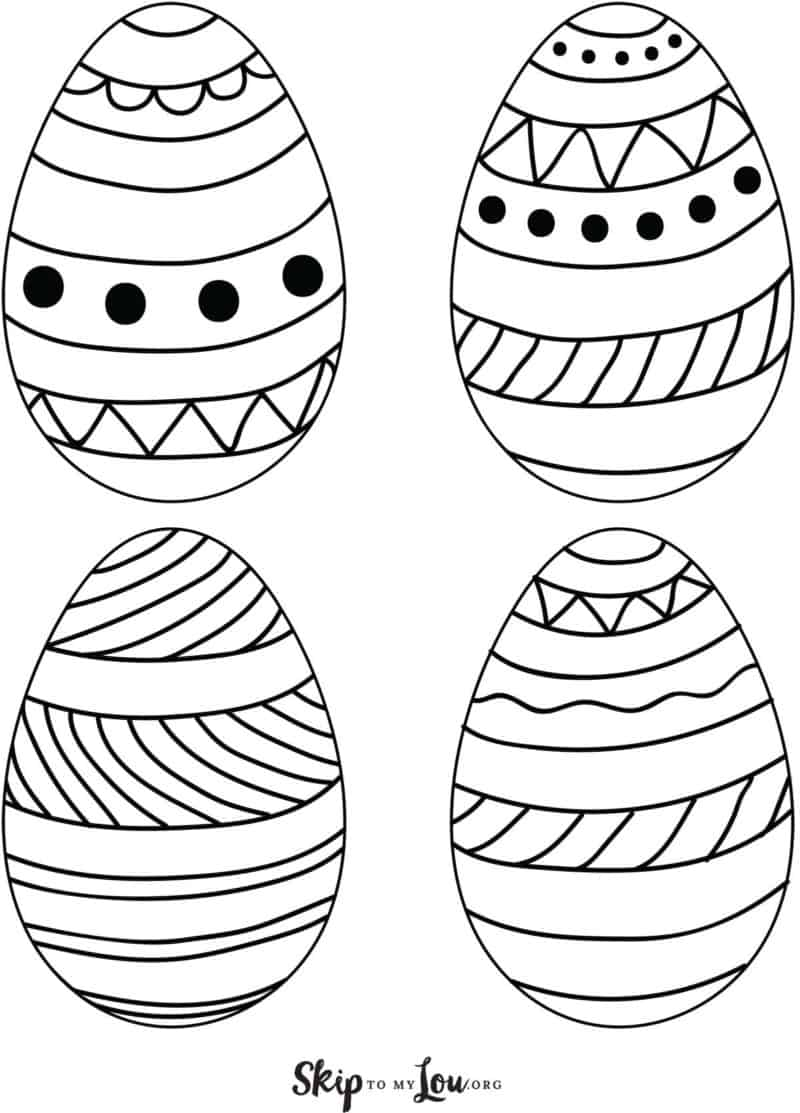 printable easter eggs 4 on page