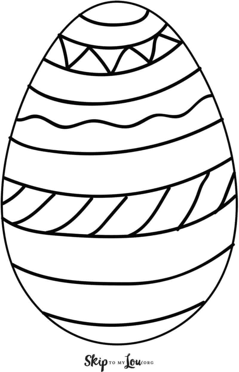 large printable easter egg