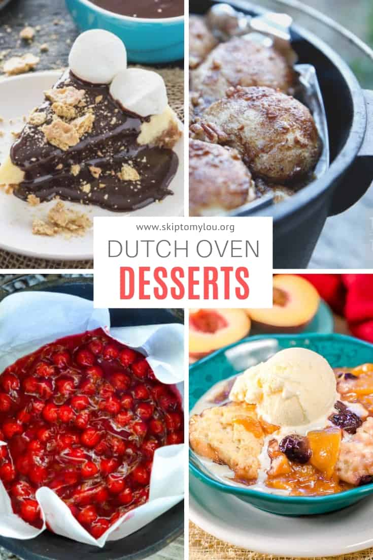 Dutch Oven Dessert Pinterest Graphic
