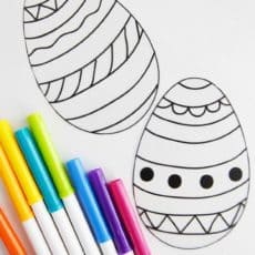 printable easter eggs to color markers