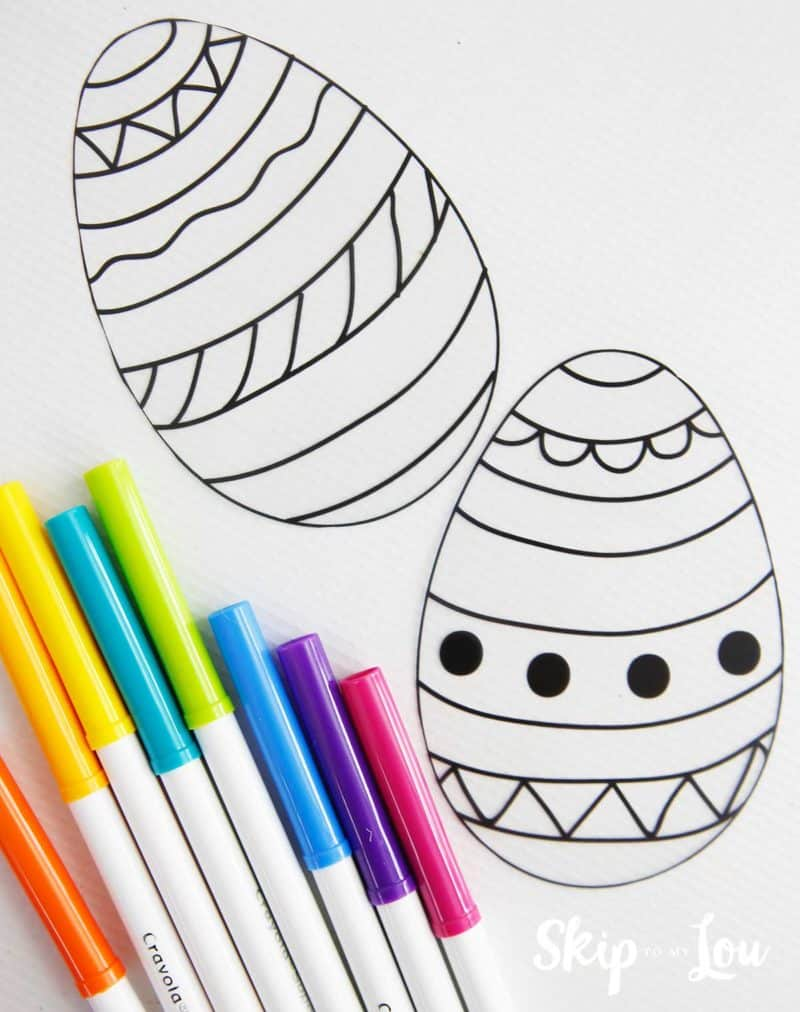 photo regarding Printable Easter Egg identified as Easter Egg Templates for Entertaining Easter Crafts Overlook Toward My Lou