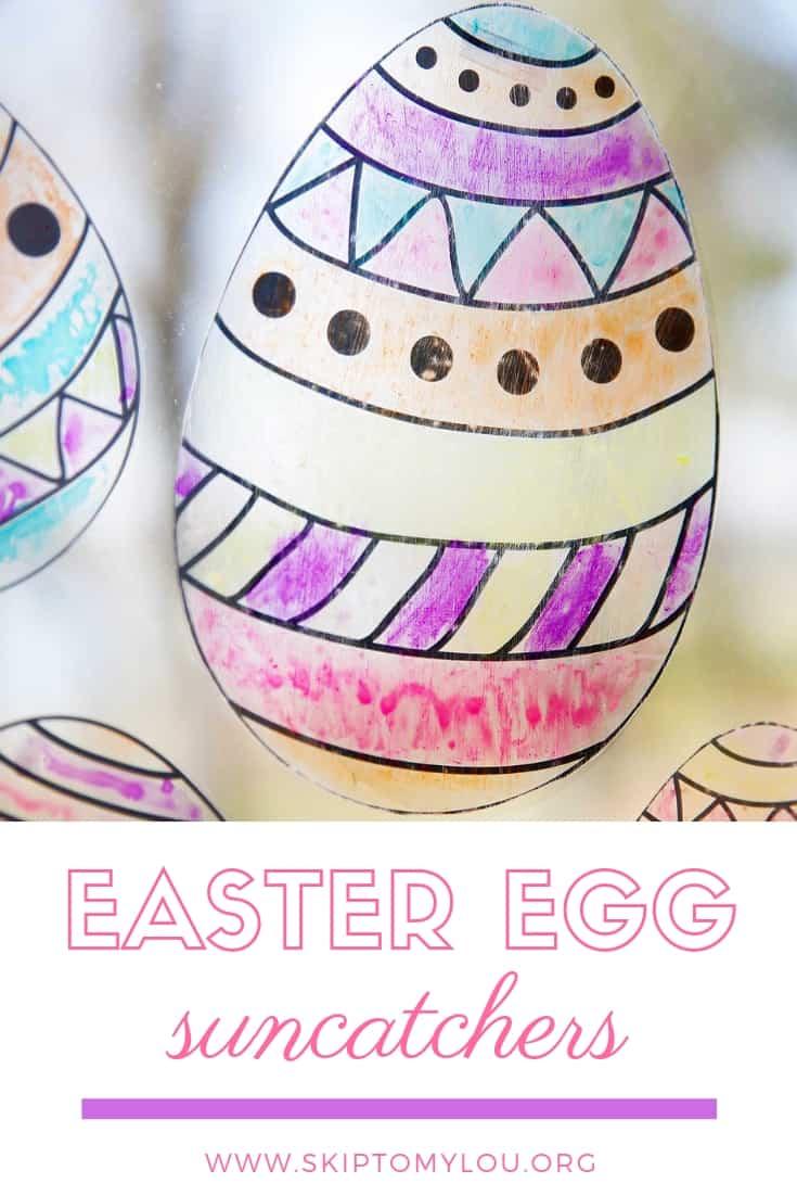 Easter Egg Sun Catchers Pinterest Graphic