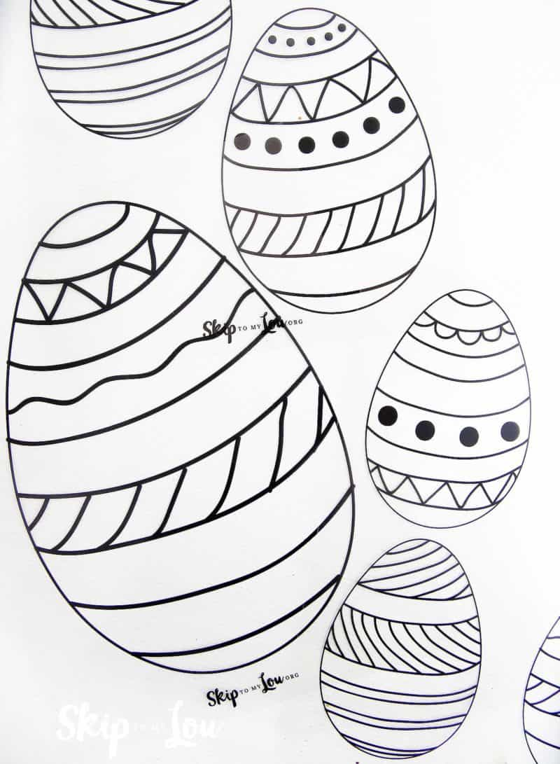 Easter egg transparencies