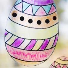 easter egg suncatcher on window