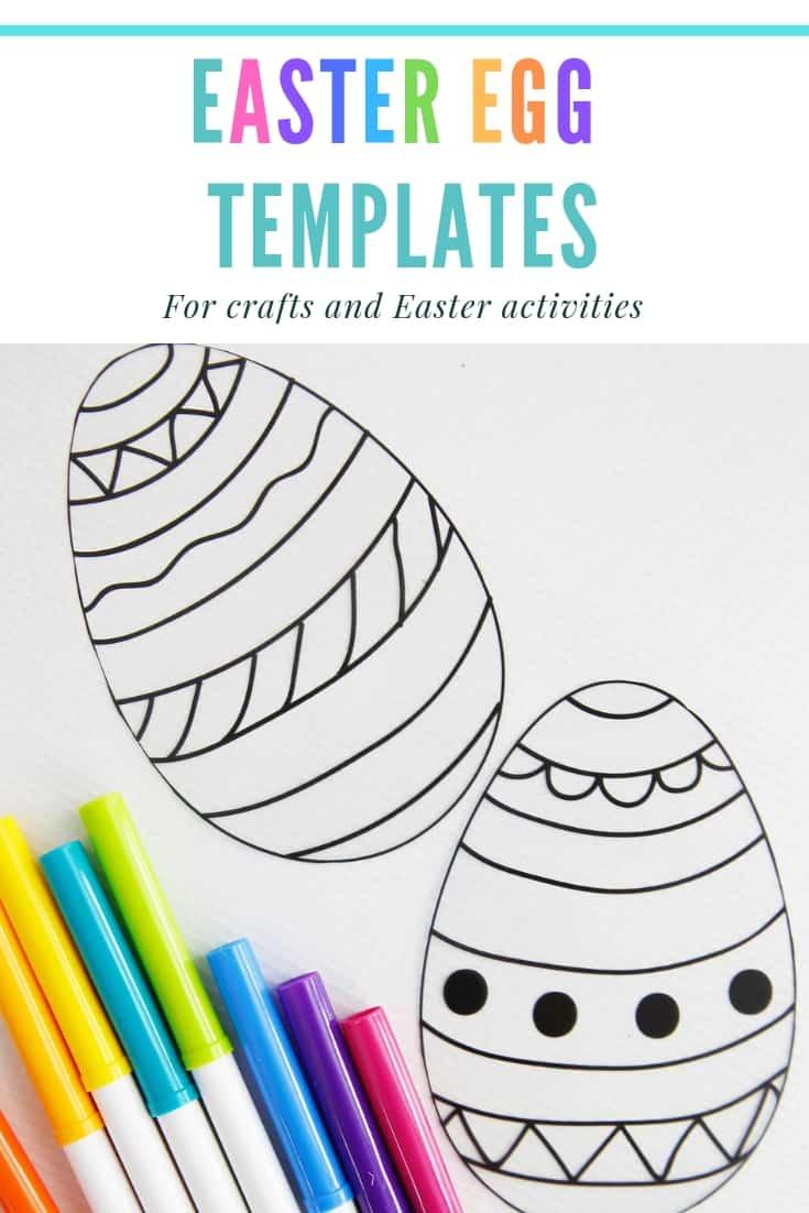 Easter Egg template Pinterest Graphic