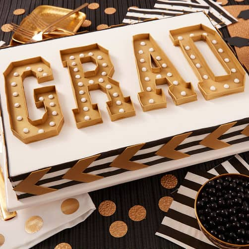 Graduation banner cake