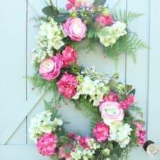 monogram wreath