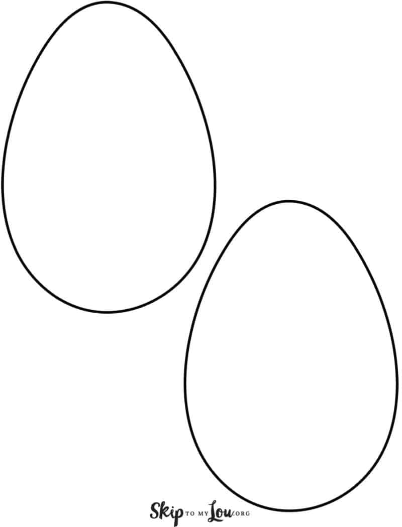 plain egg templates 2 on page