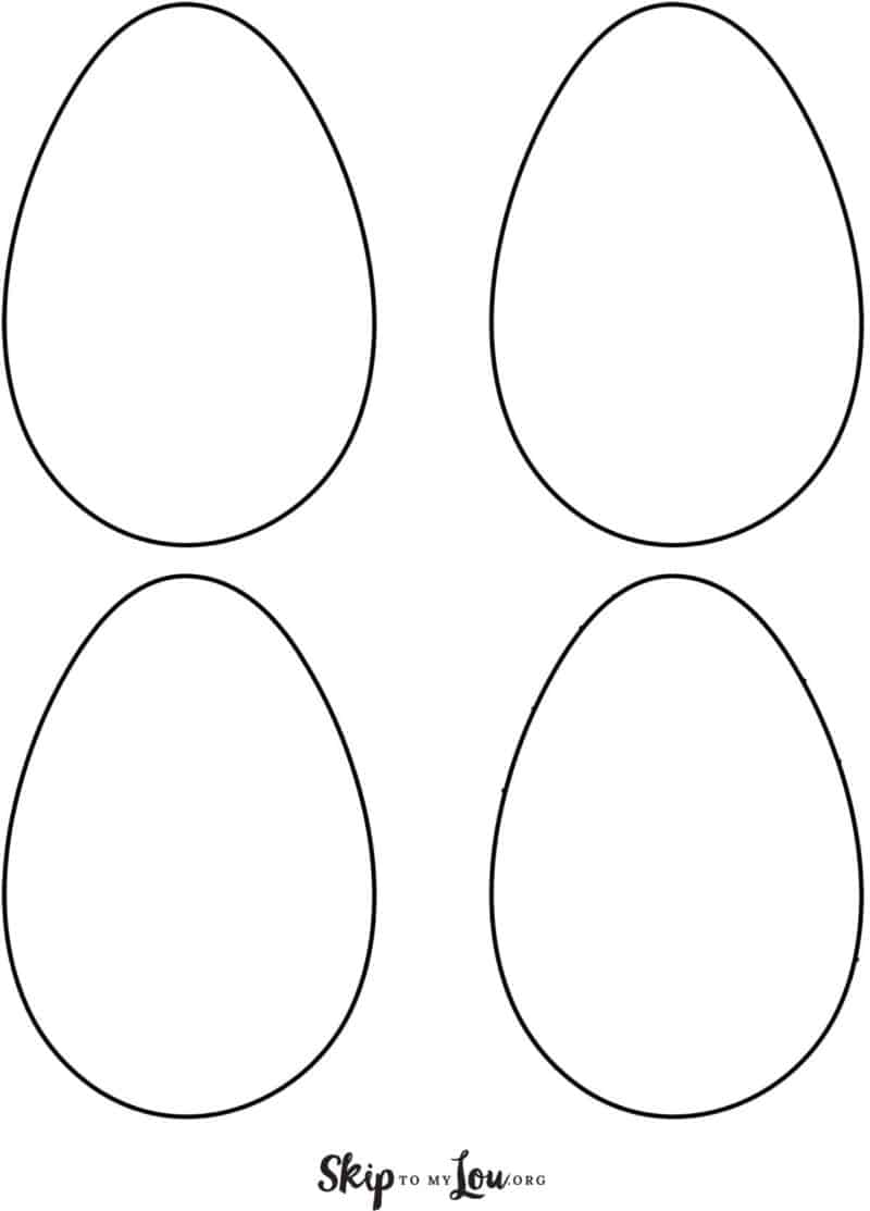 plain egg template 4 on page
