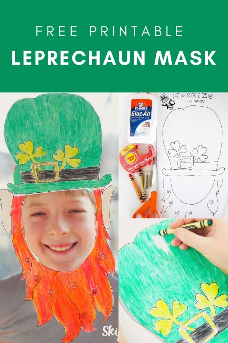 Printable Leprechaun Mask Pinterest Graphic