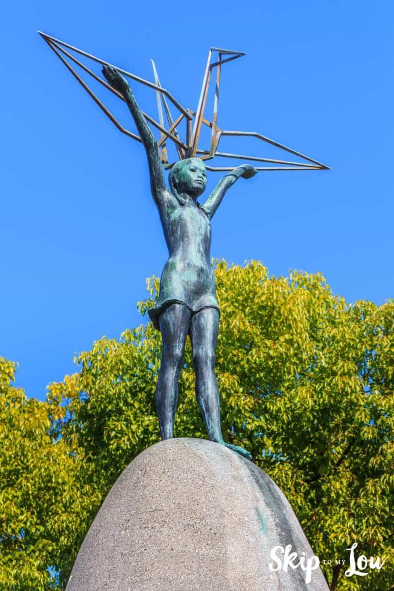 Sadako Sasaki statue at Hiroshima Peace Park