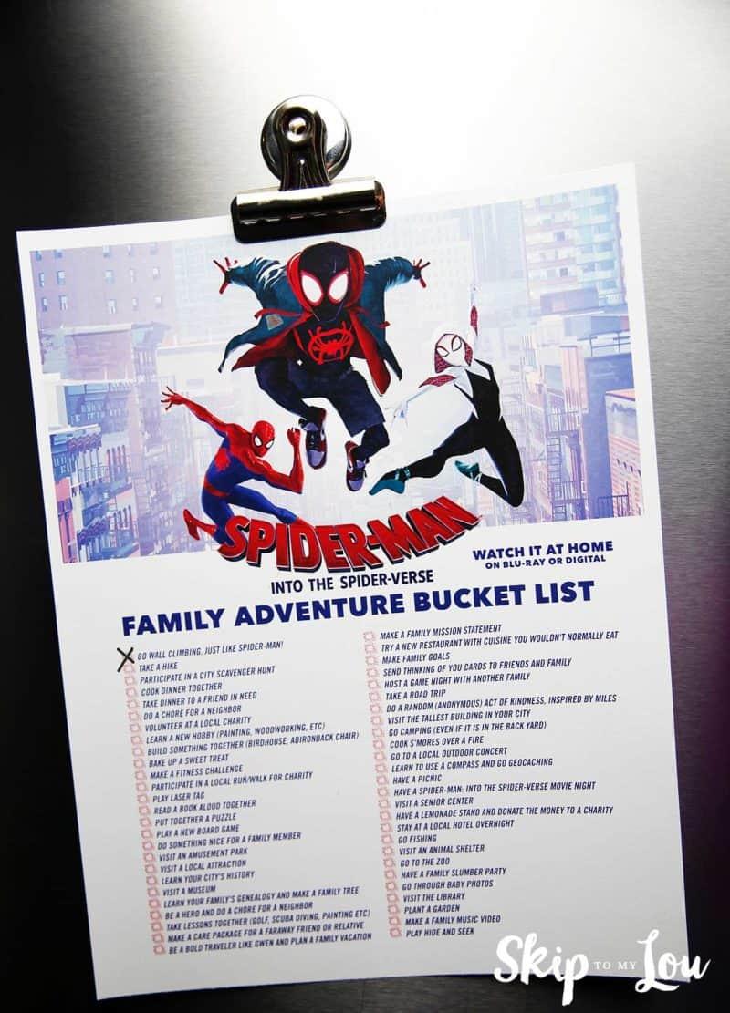 family bucket list printable