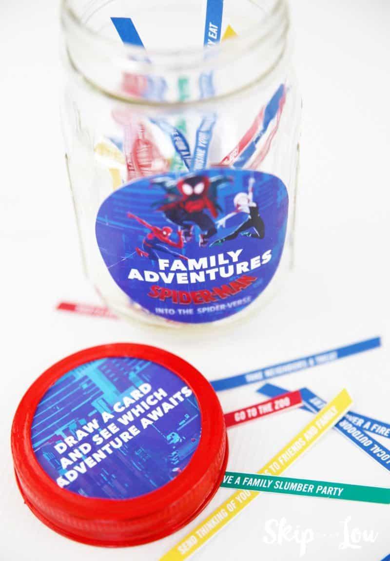 family adventure jar