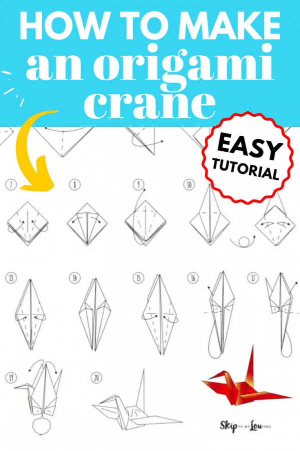 how to make origami crane PIN