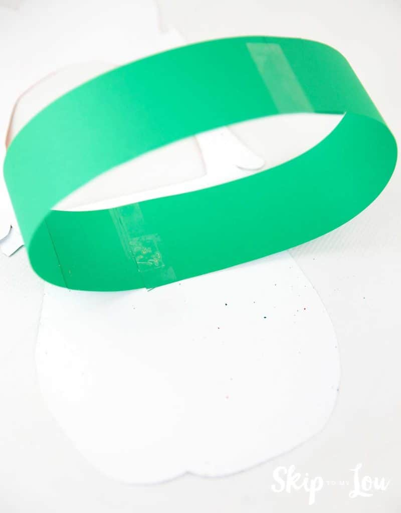 headband attached to back of leprechaun mask