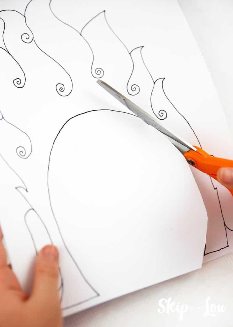 cutting leprechaun mask