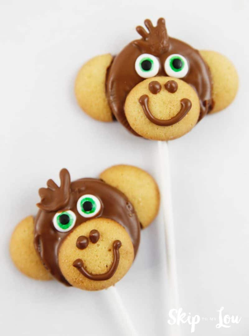 two monkey cookie pops