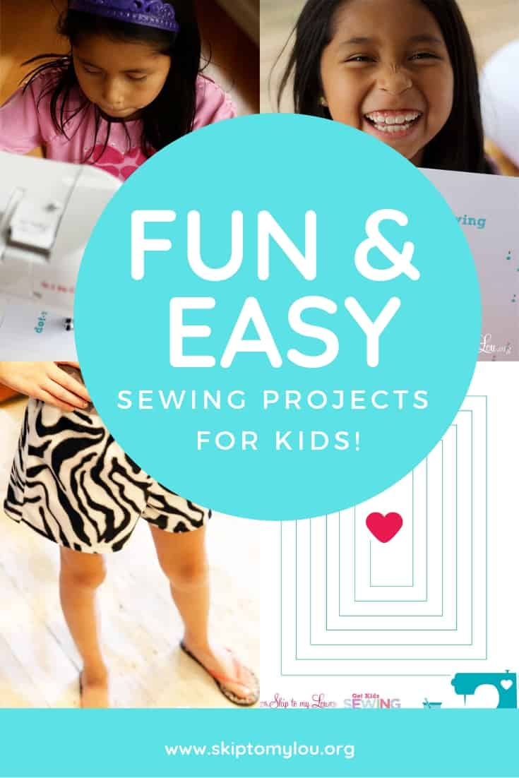 sewing projects for kids Pinterest Graphic