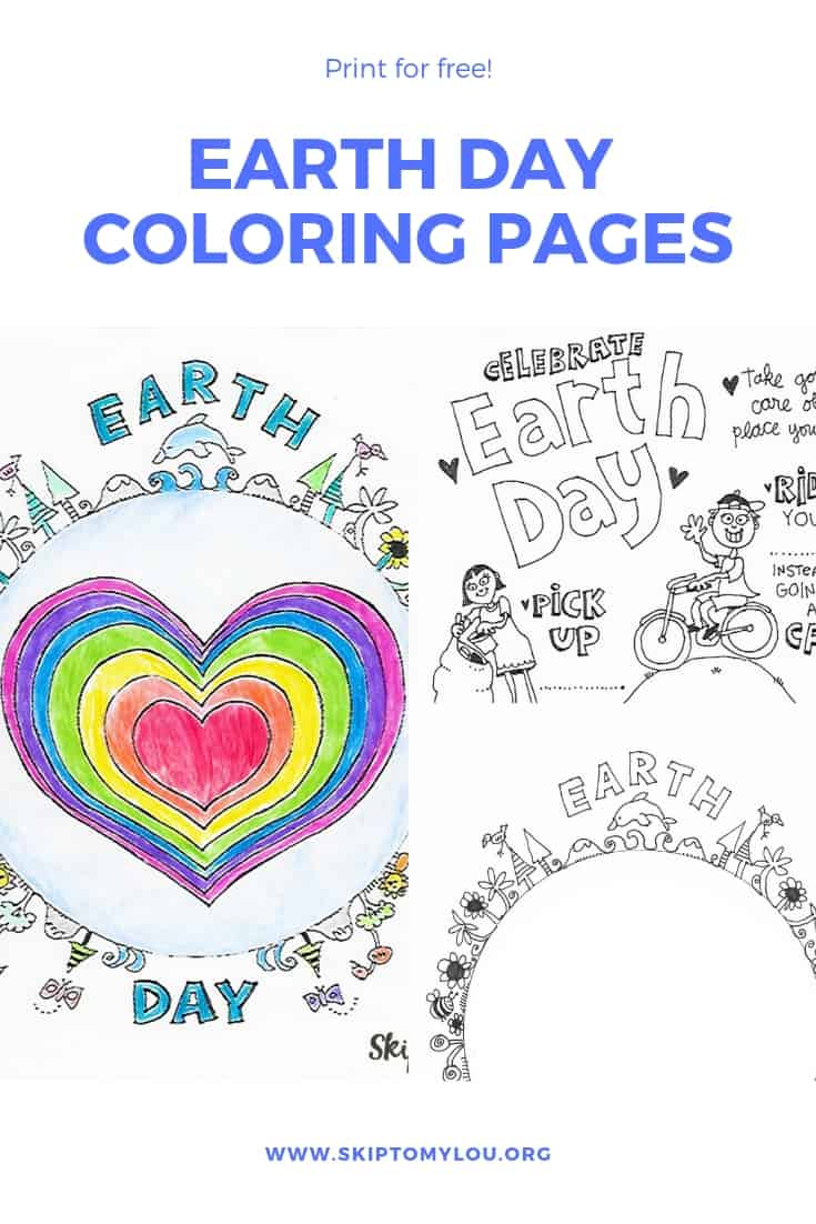 Earth Day Color Pages Pinterest Graphic