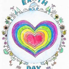 Printable Earth Day Coloring Page