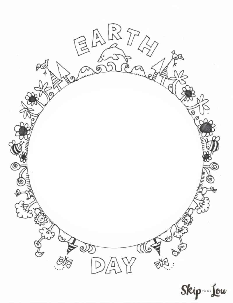 Earth Day Coloring Pages Skip